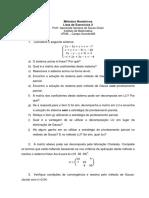 Lista 2 - metodos numericos