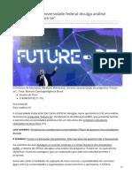 2019_AGO. UFSCar Divulga Análise Favorável Ao 'Future-se'