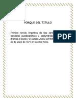 Estructura de La Novela Amalia