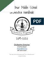d23 orchestra middle school handbook 2019-20