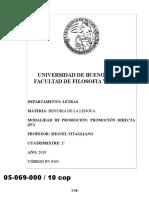 05069000 Programa 2019. Historia de La Lengua
