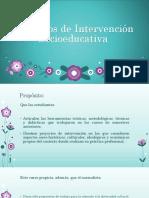 Proyectos de Intervención Socioeducativa