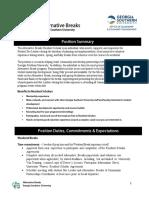 Resident Scholar Position Description