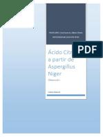 Acido Citrico a Partir de Apergillus Niger Con Melaza Como Sustrato