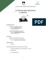 Informe de Proyecto Holografico Casero