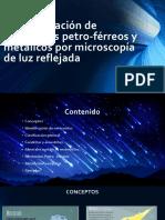 Caracterización de meteoritos por microscopia de luz reflejada.