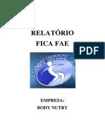Relatório FICA FAE - Body Nutry