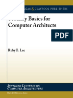 Security Basics for Computer Architectures