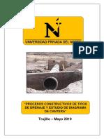 Procesos Constructivos de Drenajes y Estudio de Cantera