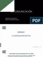 Semana 1 - La Comunicación y Reglas