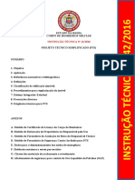 IT 42-2016 – Projeto Técnico Simplificado (PTS)