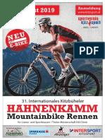 Ausschreibung - MTB-Rennen zum Hahnenkamm 2019