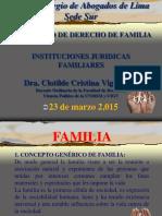 Instituciones Juridicas en el proceso de Familiares