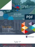 2019-20 Budget Presentation to Council 08 14 2019
