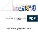 Report of the Age Appropriate Care Working Group
