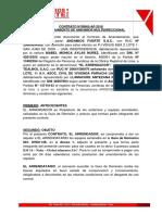 Contrato de Andamio