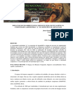 Os Impactos Socioambientais Ocasionados Pela Monocultura Do Eucalipto Na Comunidade Ladeirinhas a No Município de Ladeirinhas A/Japoatã