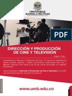 Plan de Estudios Direccion y Produccion de Cine y Television Carreras Universitarias Pregrado Universidad Manuela Beltran