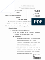 Order Issued Hearing Dispositive Motions