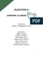 Elective II Group 1 Chronic Illness