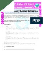 Mar Peruano y Relieve Submarino Para Quinto de Primaria