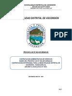 CONTRATACION ADMINISTRATIVA DE SERVICIOS   BASES DEL PROCESO CAS N° 003-2019-MDA/CAS CONTRATACION DE PERSONAL PARA LA MUNICIPALIDAD DISTRITAL DE ASCENSION - HUANCAVELICA (DECRETO LEGISLATIVO N° 1057)