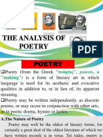 Analysis of Poetry