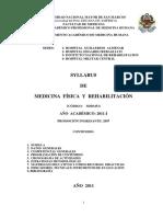 Syllabus Medicina Física y Rehabilitación