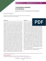 Revista Adicciones n 3 2015 Los Antagonistas de Los Receptores Opiodes en Alcoholismo Receptores Opioides