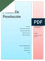 Diagrama de Flujo-proceso de Preseleccion