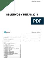 Objetivo y meta 2019