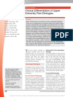 Clinical Differentiation of Upper Extremity Pain Etiologies Copy