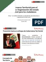 Raúl Molina Viceministro de Gobernanza Territorial de La PCM