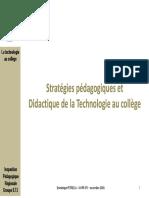 Strategies Pedagogiques Didactique 2016