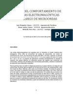 Estudio Del Comportamiento de Las Ondas Electromagénticas en El Rango de Microondas