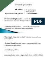 Sistema Representativo - Politica