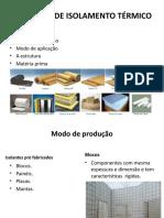 MATERIAIS DE ISOLAMENTO TÉRMICO.pptx