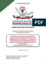 BASES DEL PROCESO DE SELECCIÓN BAJO LA MODALIDAD DEL RÉGIMEN DE CONTRATACIÓN ADMINISTRATIVA DE SERVICIOS - CAS PARA LAS DIFERENTES ÓRGANOS/UNIDADES ORGÁNICAS ESTRUCTURADOS DEL GOBIERNO REGIONAL DE HUANCAVELICA.  (DECRETO LEGISLATIVO N° 1057)