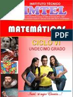 Cartilla Matematicas Ciclo VI - 15-Sep-2015