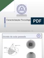 apresentação caracterização tecnológica