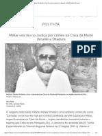 Militar Da Ditadura Vira Réu Pelo Sequestro e Estupro de Inês Etienne Romeu