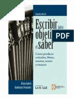HAMBURGER FERNANDEZ Alvaro Andres - Escribir Para Objetivar El Saber