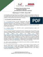 Edital Regular Educação e Docencia MP 2020