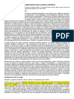 Texto Para Compreensão e Orientaçã Da Escrita de Artigos Científicos
