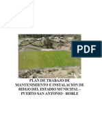Plan de Trabajo Mantenimiento de Estadio