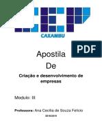 Apostila de Criação e Desenvolvimento de Empresas 20182019 Modulo III ADM B C E