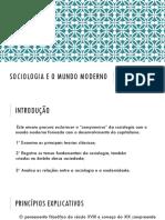 sociologia e o mundo modoern