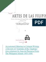 Custom of the Tagalog Word