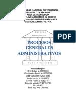 Trabajo de Procesos básicos administrativos