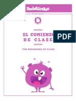 El comienzo de clases